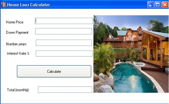 house mortgage calculator v.1.0
