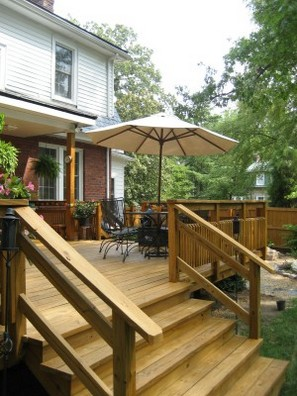 How To Build Deck Stair Handrails How To Build A House - Building deck stairs railing