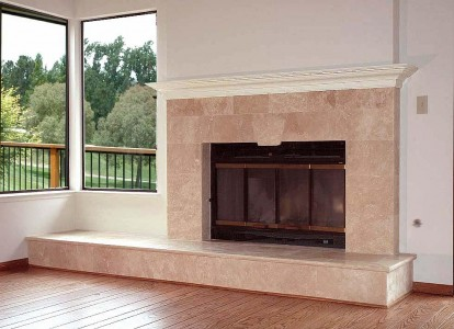 Stone Refaced Fireplace