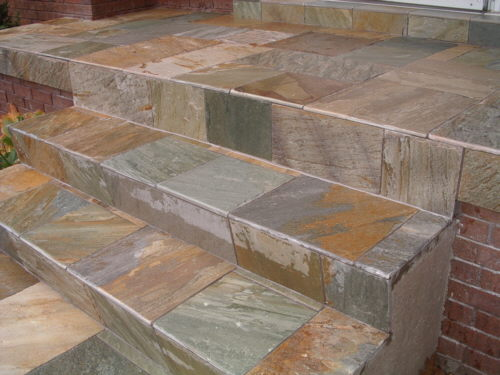 Tiled Concrete Steps