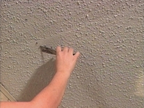 Popcorn Textured Ceiling Repair