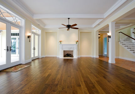 Wood Floor Room. There Are Two Types Of Real Wood Flooring: Solid Flooring  And