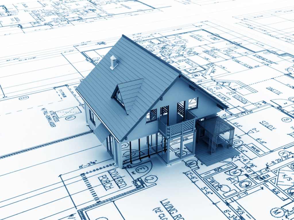 House Model and Blueprint