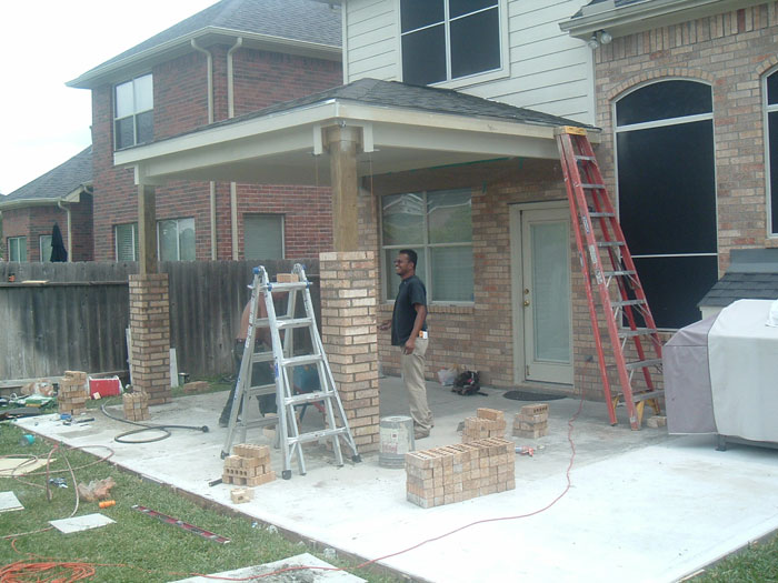 Brick columns building tips how to build a house for How to build a house on pillars