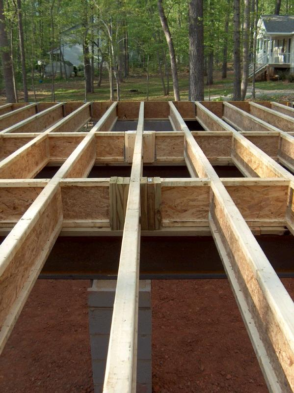 House floor framing how to build a house Floor joist trusses