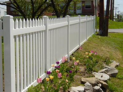 A Beautiful White Fence