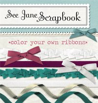 Using Color Ribbon for a Scrapbook