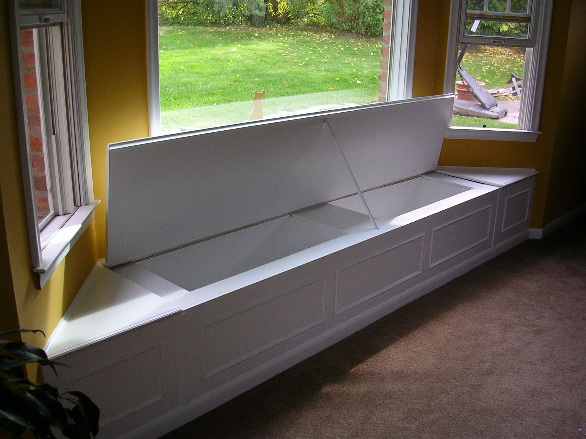 Building a bay window seating how to build a house for Storage bay