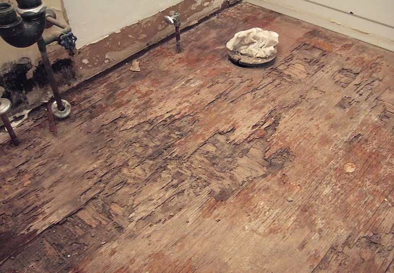 There. Replacing a Soggy  Rotten Bathroom Sub Floor   How To Build A House