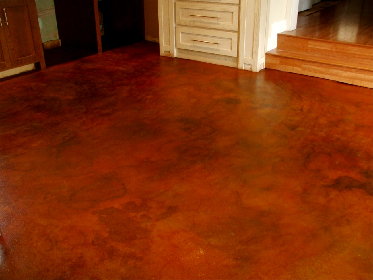 Types of concrete floor coats how to build a house for Stained concrete floors