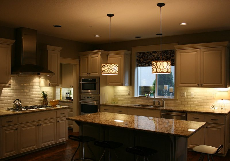 Pendant Fixture above the Kitchen Island