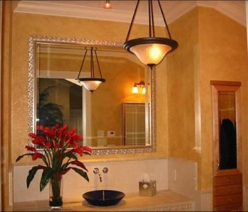 Pendant Fixture in the Bathroom