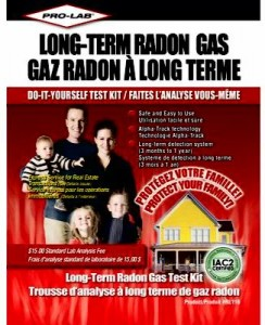 Long Term Radon Gas Test Kit