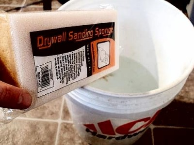 Drywall Sponge and Bucket
