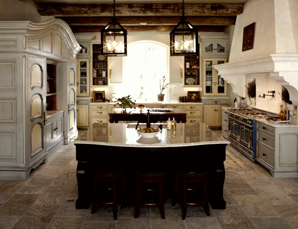 French rustic style kitchen for Traditional rustic kitchen